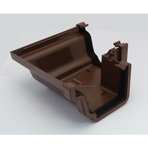 Ogee Gutter 90° External Angle Brown
