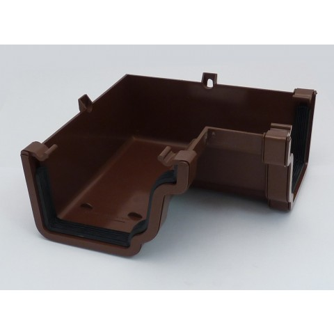 Ogee Gutter 90° Internal Angle Brown