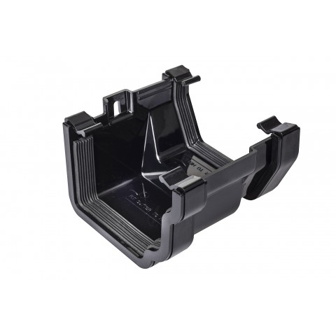 PVC Ogee to PVC Square Gutter Adaptor Black