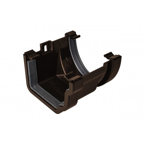 PVC Ogee to PVC Deep Flow Gutter Adaptor Brown