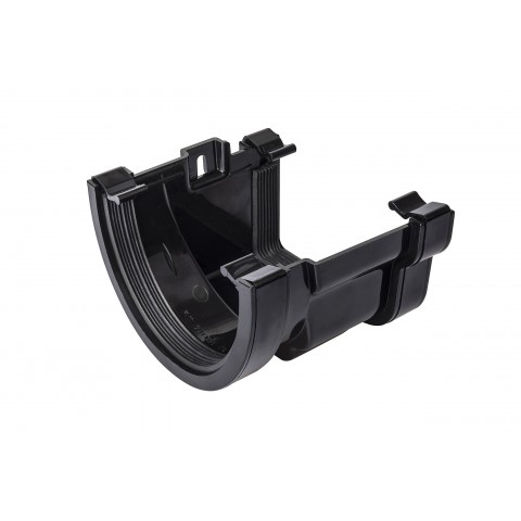 PVC Deep Flow to PVC Ogee Gutter Adaptor Black