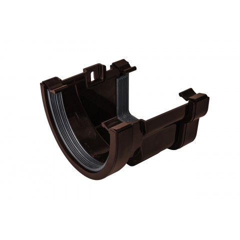 PVC Deep Flow to PVC Ogee Gutter Adaptor Brown