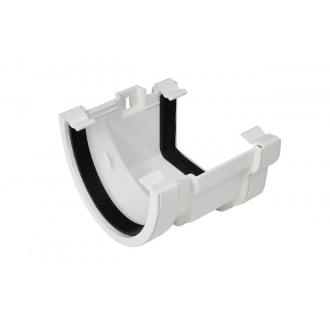 PVC Deep Flow to PVC Ogee Gutter Adaptor White