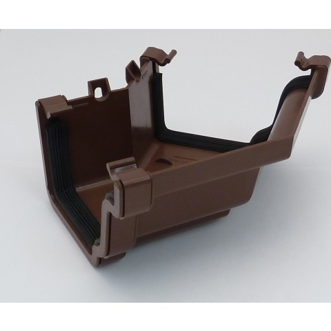 Ogee Gutter 135° External Angle Brown