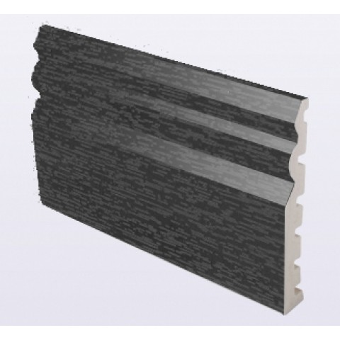 125 x 18mm Ogee Skirting Grained Dark Grey 7016