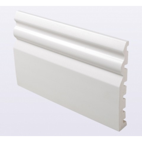 125 x 18mm Ogee Skirting White