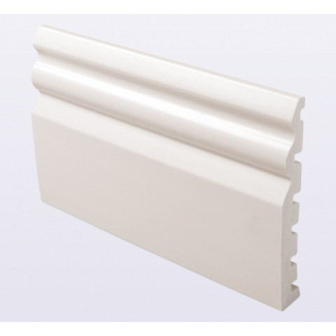 125 x 18mm Ogee Decorative Architrave White Ash Woodgrain