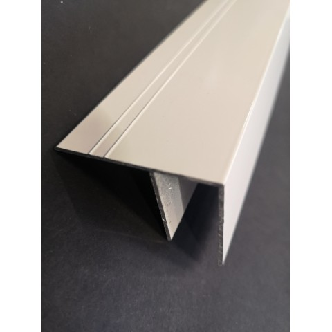 Aluminium 'F' Section 10mm x 3.0m White