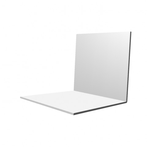80 x 80 x 2.5mm x 5m Rigid Angle Trim White