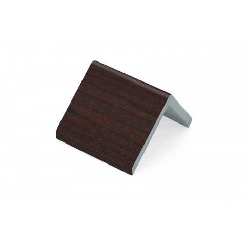 50 x 50 x 5mm x 5m Rigid Angle Trim Rosewood