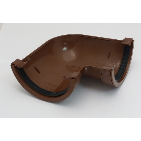 112mm Half Round Gutter 90° Angle Brown