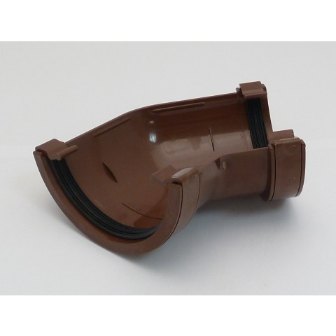 112mm Half Round Gutter 135° Angle Brown