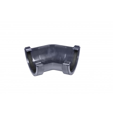 112mm Half Round Gutter 135° Angle Dark Grey
