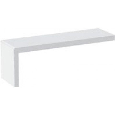 9mm Square Reveal Liner/Capping Board 60mm Leg (White)