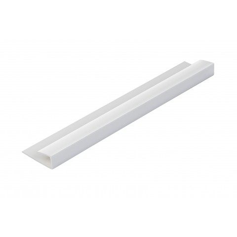 Roomliner Wall Panel End Cap Trim White 5mm x 2.6m