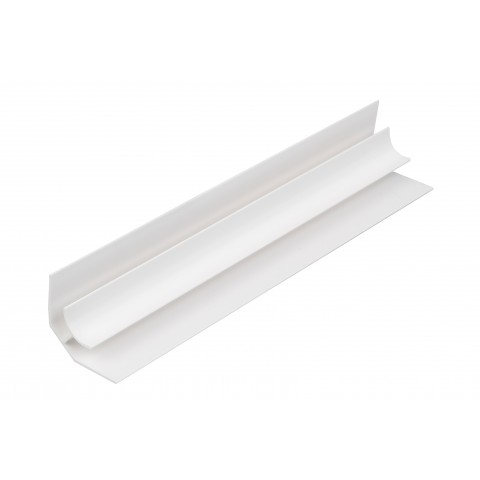 Roomliner Wall Panel Internal Corner White 5mm x 2.6m