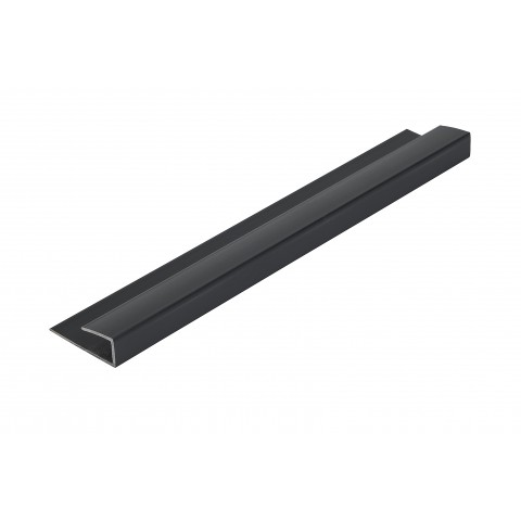 Roomliner Wall Panel End Cap Trim Black 5mm x 2.6m