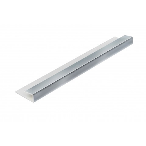 Roomliner Wall Panel End Cap Trim Chrome 5mm x 2.6m