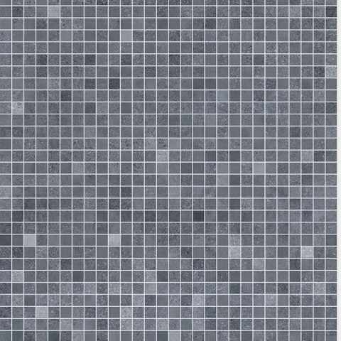 Cascade Shower Panel 1m x 10mm x 2.4m Roman Mosaic Blue Grey