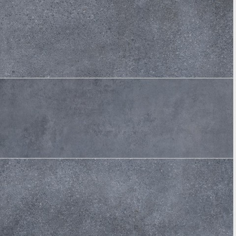 Cascade Shower Panel 1m x 10mm x 2.4m Roman Tile Blue Grey