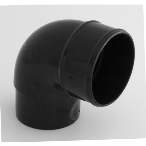 68mm Round Downpipe 92.5° Bend Black