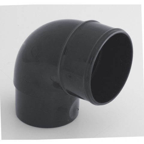 68mm Round Downpipe 92.5° Bend Dark Grey RAL 7016