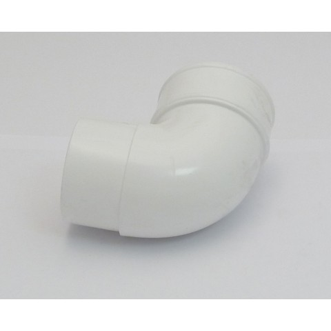 68mm Round Downpipe 92.5° Bend White