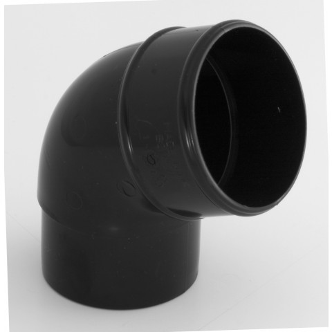 68mm Round Downpipe 112° Offset Bend  Black