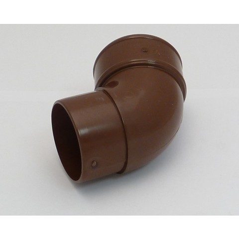 68mm Round Downpipe 112° Offset Bend (Brown)