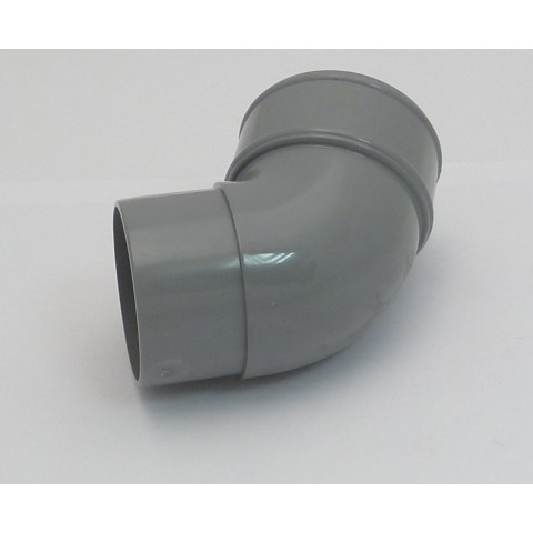 68mm Round Downpipe 112° Offset Bend  Grey