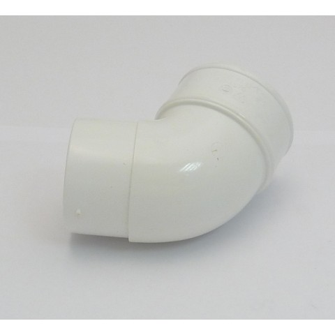 68mm Round Downpipe Offset Bend 112deg White