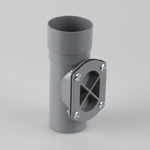 68mm Round Downpipe Access Pipe Grey