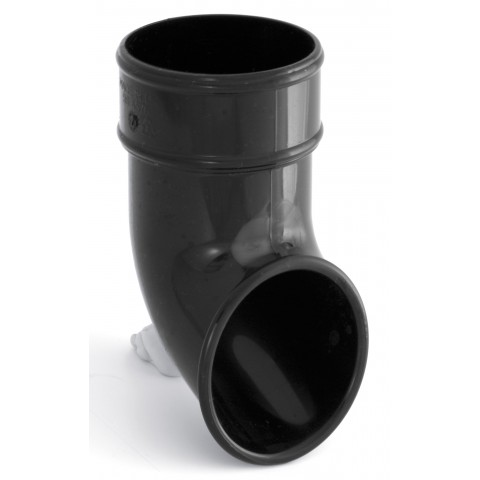 68mm Round Downpipe Shoe Dark Grey RAL 7016