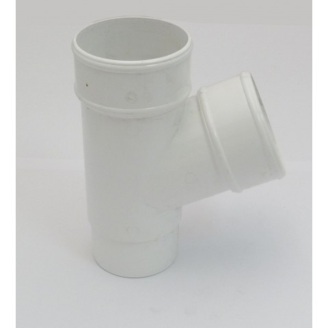 68mm Round Downpipe 112° Branch White