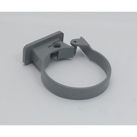 Single Fixing Pipe Clip Grey