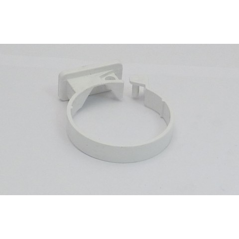 68mm Round Downpipe Single Fixing Pipe Clip White