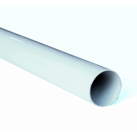 68mm Round Downpipe White