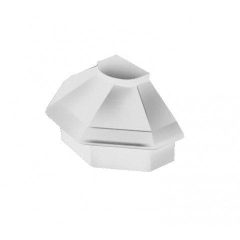 Alu Ridge Mk 4 Radius End Cap White