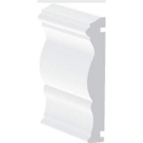 70mm x 13mm Decorative Architrave White