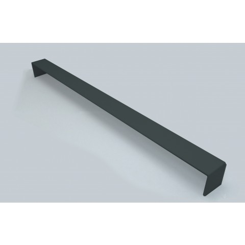 Double Ended External 600mm Square Fascia Corner Gloss Dark Grey