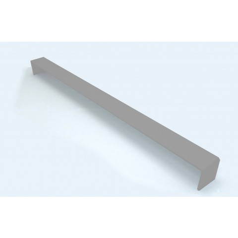 Double Ended External 500mm Square Fascia Corner Gloss Light Grey