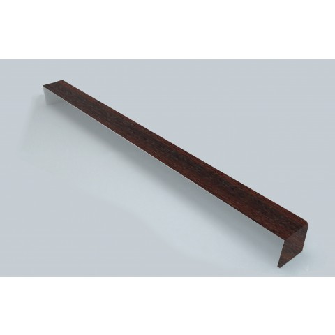 Square Fascia Corner Double Ended Mahogany 500mm