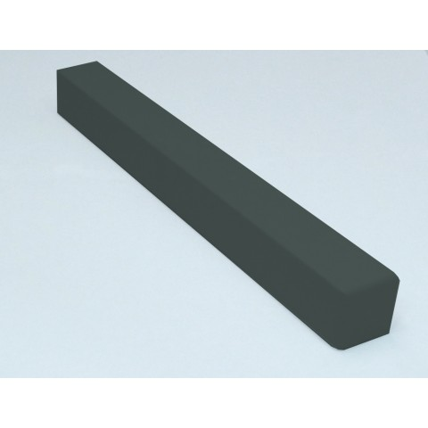 External 300mm Square Fascia Corner Textured Dark Grey RAL7016