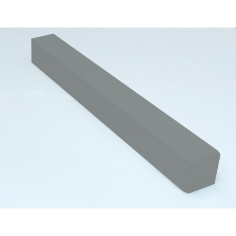 External 300mm Square Fascia Corner Gloss Light Grey