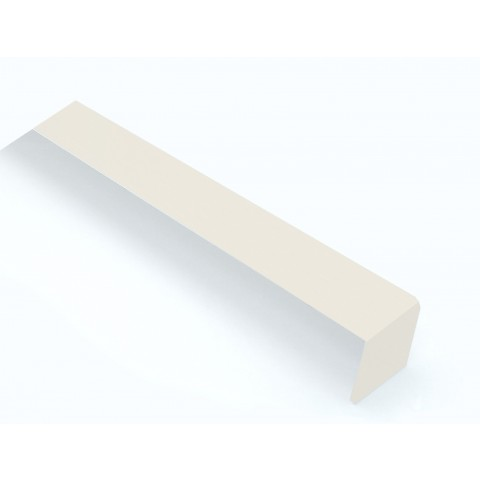 External 300mm Square Fascia Corner White Ash
