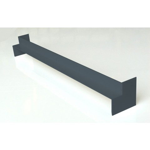 Double Ended Internal 500mm Square Fascia Corner Gloss Dark Grey