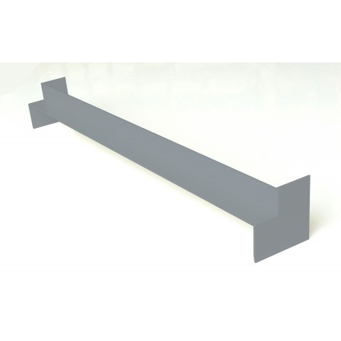 Double Ended Internal 500mm Square Fascia Corner Gloss Light Grey
