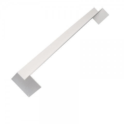 Double Ended Internal 500mm Square Fascia Corner White