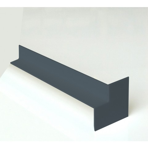 Internal 300mm Square Fascia Corner Textured Dark Grey RAL7016