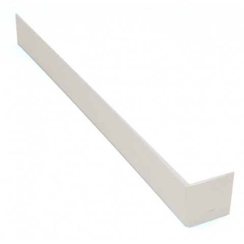 300mm Square Fascia Joint White Ash Woodgrain